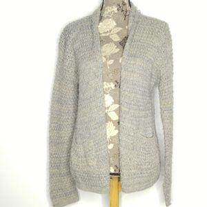 American Rag Cardigan Sweater Sz S Open Front Grey